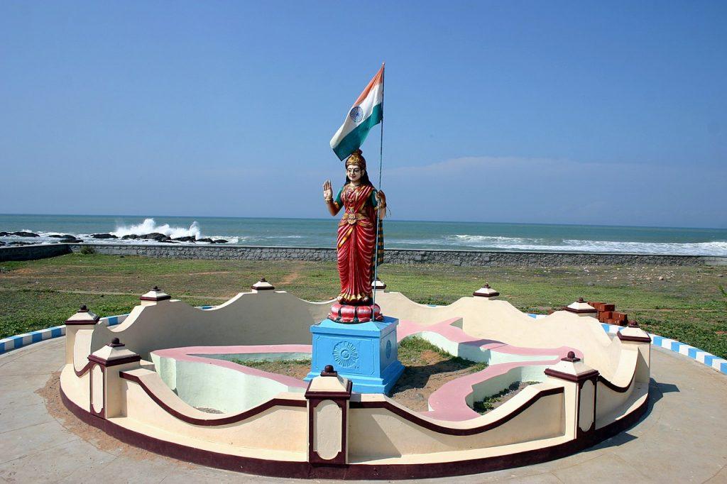 A statue of Bharat Mata in Kanyakumari, Tamil Nadu.